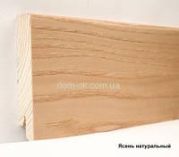 Плинтус шпонированный Ключук Ясень натуральный высотой 60 и 80мм 80х18мм.