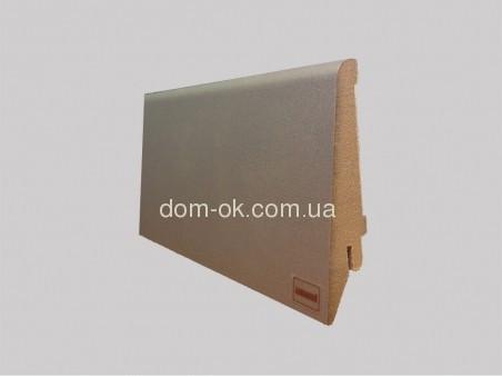 МДФ плинтус Супер профиль, цвет Аллюминий, длина 2,8 м 82 мм.