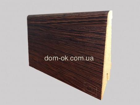 Супер профиль плинтус МДФ, цвет Венге, длина 2,8 м 82 мм.