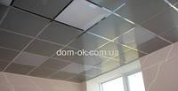 Монтаж подвесного потолка Армстронг плиты металлические, м.кв.