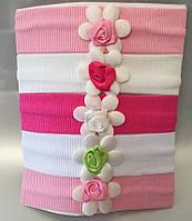 """Повязочки для новорожденных """"Цветочек"""". Оптом."""