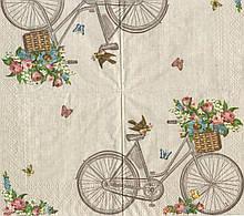 Салфетка декупажная Ретро велосепед 5618