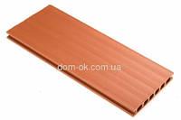 Террасная доска коллекции CLASSIC (Класік) 24*162*2400 мм CLASSIC, теракотовый, широкие полоски