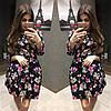 Платье женское короткое с цветочным принтом P1053