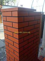 Заборный столб под клинкер 580х360мм -производим любой цвет Заборный столб 580х360, фото 1