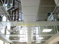 Зеркальный подвесной потолок в комплекте Материал панели 600х600 НЖ+ зеркальный профиль