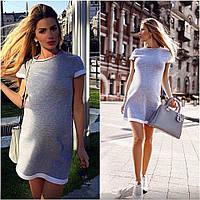 Платье женское короткое трикотажное для повседневной носки P1058