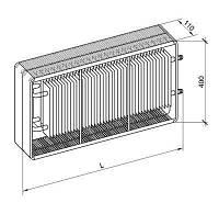 Конвектор радиатор панельный MAXITERM тип 22 400 x 2000 x  110