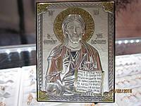Икона Николай угодник, посеребрение