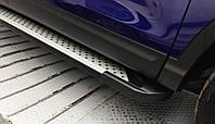 Пороги - Almond (алюминий+пластик) для Audi Q5