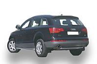 Защита заднего бампера - труба нержавейка (d=70) для Audi Q7