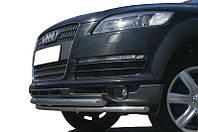 Защита переднего бампера - передняя двойная труба (d=60/42) для Audi Q7