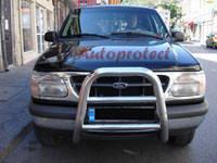 Защита переднего бампера - кенгурятник (нержавейка d=70) для Ford Explorer