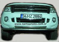 Защита переднего бампера - труба двойная (нержавейка d=70/48 для Ford Ranger