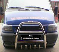 Защита переднего бампера - кенгурятник с грилем (высокий) для Ford Transit 2008+ 2015+ короткая длинная базы