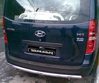 Защита заднего бампера - ус одинарный (нержавейка d=70) для Hyundai H1 Starex короткая и длинная база