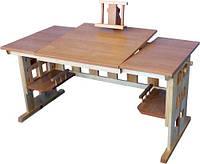 Парта стол ученический с регулировкой высоты Доцент ТМ Кинд (60х120 см, бук+береза)