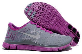 Кроссовки женские Nike Free Run 4.0  / WRUN-075 (Реплика)