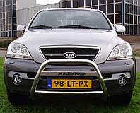 Защита переднего бампера - кенгурятник без гриля для KIA Sorento I (2002-2006)