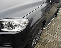 Пороги - Dolynau (алюминий+пластик) для Mercedes-Benz M Klass W163