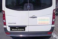 Защита заднего бампера - труба (нержавейка d=70) для Mercedes-Benz Sprinter 2004-2015+короткая ,средняя и длинная базы