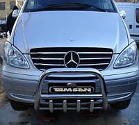Защита переднего бампера - кенгурятник с грилем (d=60) для Mercedes-Benz Viano 2004-2010 2011-2015+