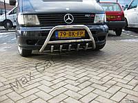 Защита переднего бампера - кенгурятник (нержавейка d=70) для Mercedes-Benz Vito 2004+