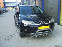 Защита переднего бампера - кенгурятник с грилем для Mitsubishi Outlander 2008+ 2012+