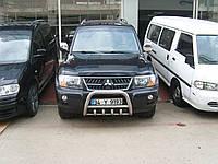 Защита переднего бампера - кенгурятник (нержавейка d=70) для Mitsubishi Pajero 4