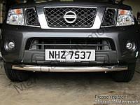 Защита переднего бампера - ус одинарный (нержавейка d=70) для Nissan Navara