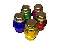 Лампадки маленькие, стеклянные, 5 разных цветов