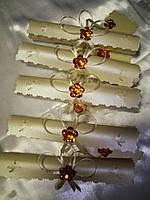 Свадебное пригласительное в свитках, фото 1
