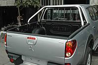 Ролл бар (с защитой стекла) для Nissan Navara