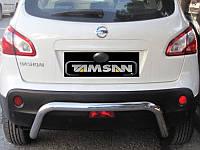 Защита заднего бампера - труба (нержавейка d=70) для Nissan Qashqai 2008-12 Qashgai 2014+