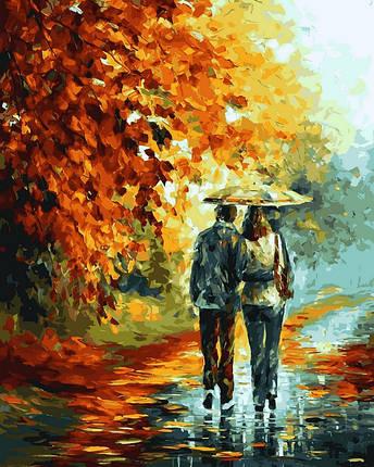 Набор-раскраска по номерам Поздняя осень в парке худ Афремов Леонид, фото 2