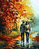 Набор-раскраска по номерам Поздняя осень в парке худ Афремов Леонид