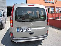 Защита заднего бампера - труба (нержавейка d=70) для Renault Kangoo