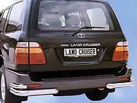Защита заднего бампера - углы двойные(d=70/48) для Toyota Land Cruiser 100