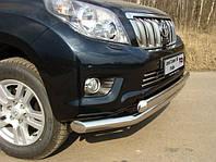 Защита переднего бампера - труба двойная овал (d=76/75/42) для Toyota Land Cruiser 120