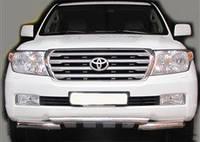 Защита переднего бампера - труба-грендер (нержавейка d=70) для Toyota Land Cruiser 200 2008+ 2015+