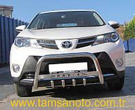 Защита переднего бампера - кенгурятник с грилем (d=60) для Toyota RAV4 2006-2012 2013+