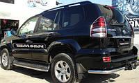 Защита заднего бампера - углы одинарные (d=70) для Toyota Land Cruiser 200 2008+ 2015+