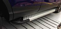 Пороги - Almond V2 (алюминий+пластик) для Volvo XC90