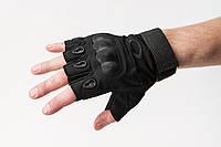 Перчатки тактические беспалые Чёрные OAKLEY