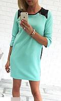 Платье с кож плечиками,расцветки,скл№12