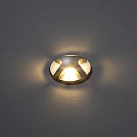 Ґрунтовий світлодіодний світильники IP 67. Ø55 мм. Висота 104 мм CREE LED 3W CRI 85, блок живлення - за, фото 1