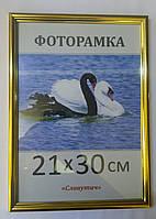 Фоторамка,пластиковая,А4,21х30, рамка, для фото, дипломов, сертификатов, 1415-47
