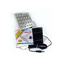 LED лампа с аккумулятором и солнечной панелью GD-025