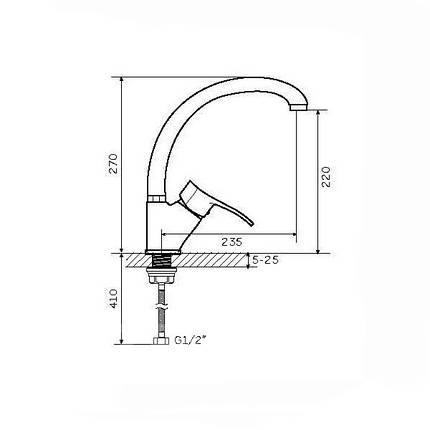 Смеситель для кухни Zegor Z83-DYU-A181 BIG, фото 2
