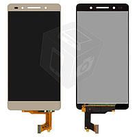Дисплей + touchscreen (сенсор) для Huawei Honor 7, золотистый, оригинал